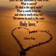 There are four questions of value in life…