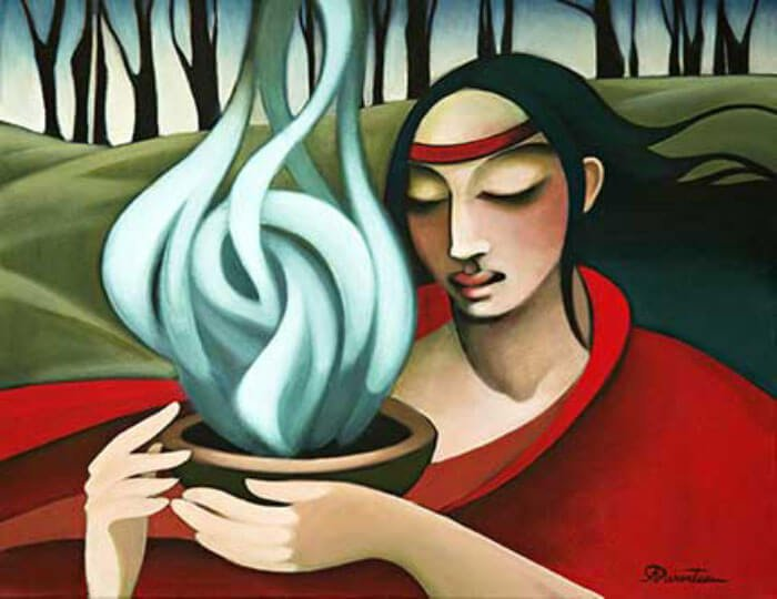Holistic / Alternative Health Care by Bridgette Lyn Dolgoff  Art-of-smudging_painting